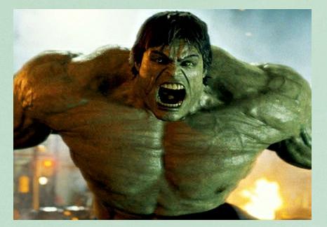 Imagem do Hulk como referência