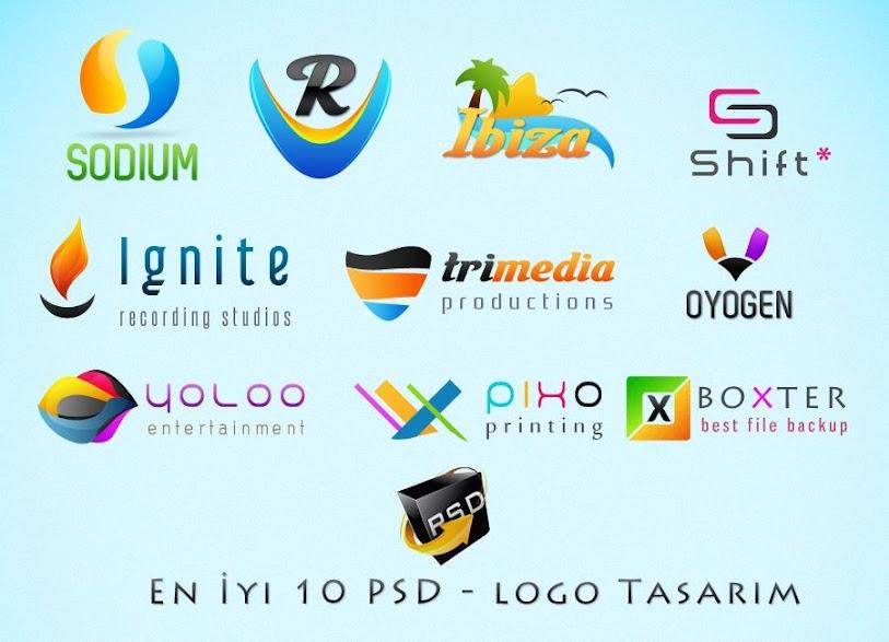 10 PSD - logo İndir