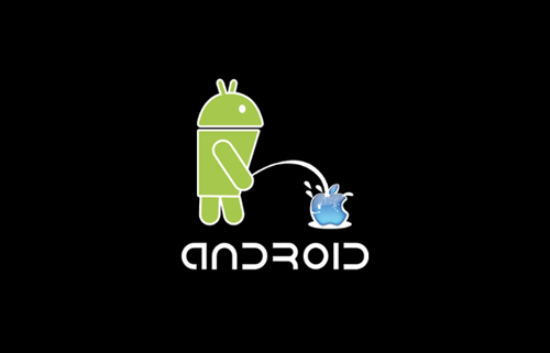 Android pees on iphone