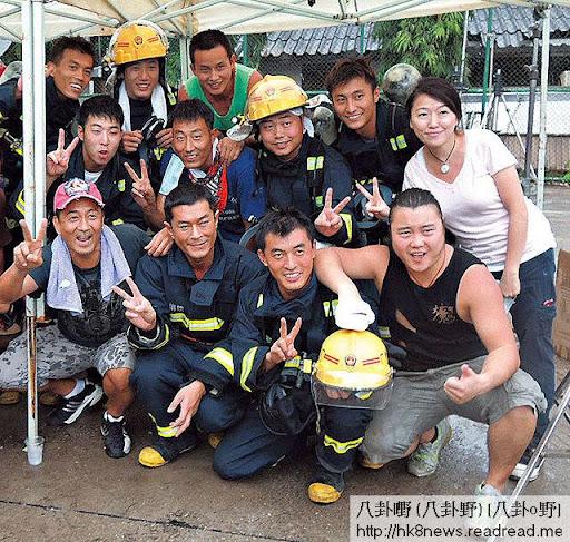 最近四個月古仔都在泰國扮消防員,操得勁 fit。(《蘋果日報》圖片)