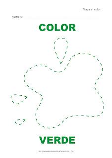 Dibujo para delinear y trazar el color verde