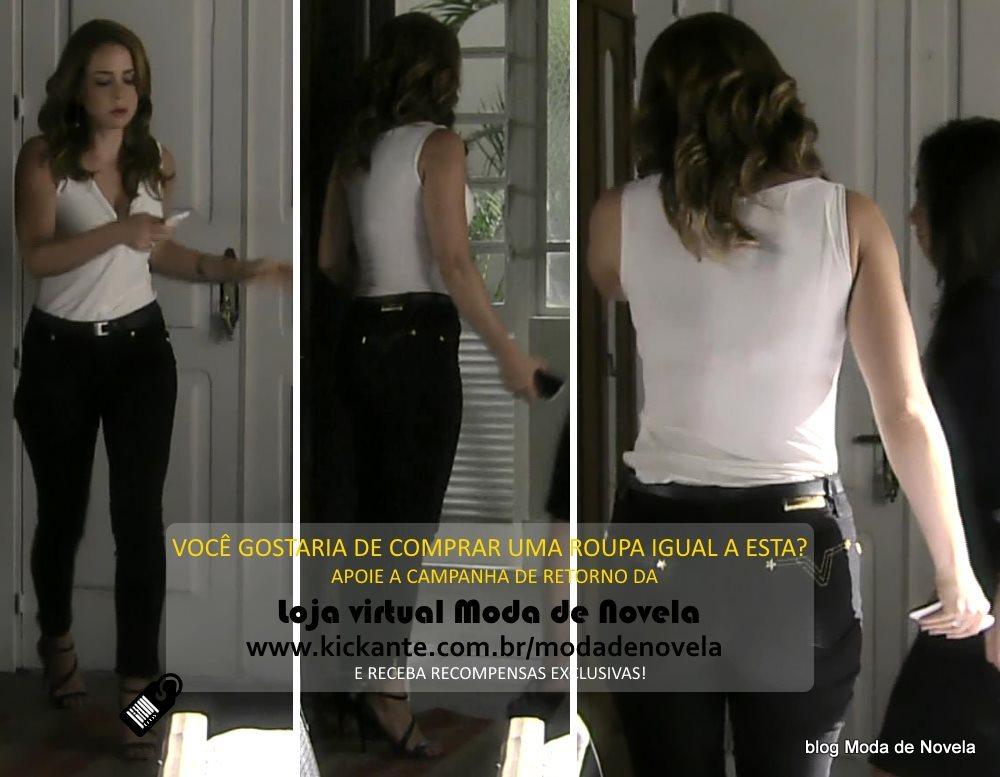 moda da novela Império, look da Cristina dia 3 de fevereiro de 2015