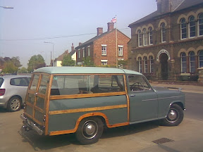 1960s solidly built clubman woodframe rear Morris Isis