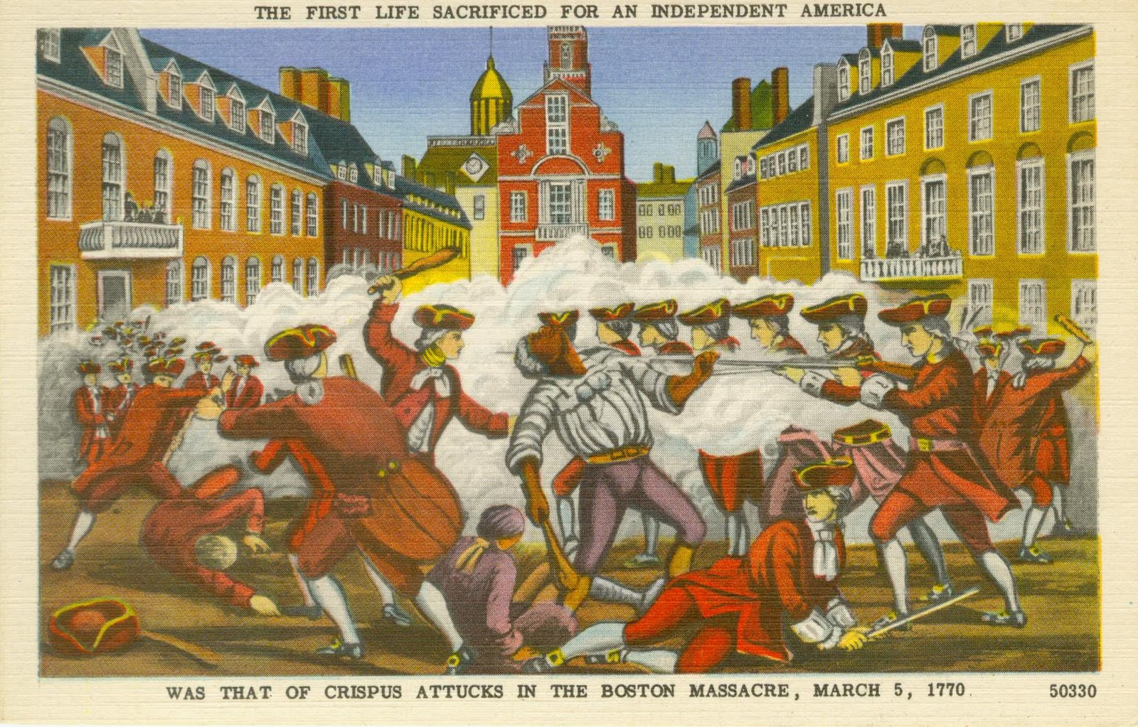 While Crispus Attucks was one of the men killed in the