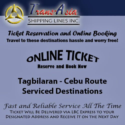 Trans-Asia Shipping Tagbilaran-Cebu Route Ticket Reservation and Online Booking