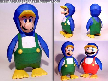 Penguin Luigi Papercraft