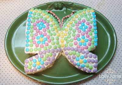 how to make and decorate a butterfly cake