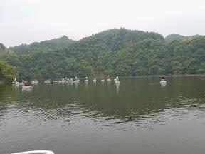 当日の亀山湖