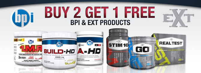 Buy two get one free EXT & BPI products