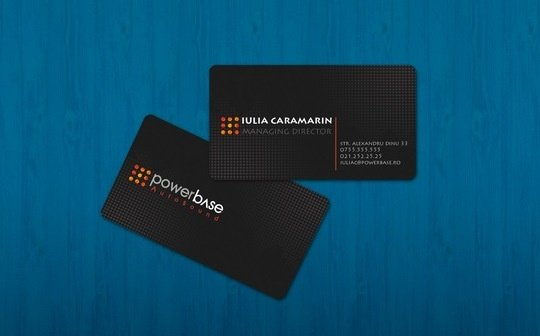 Business Card Design: iTudor - powerbase business card