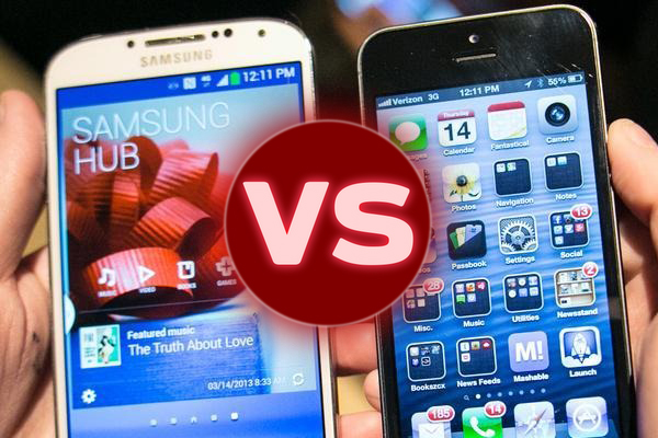 Galaxy S4 vs iPhone 5 battery