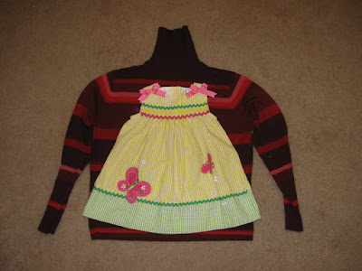 Upcycled Sweater Toddler Dress