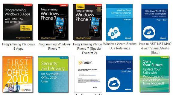 Colección de libros de Microsoft para descargar gratis