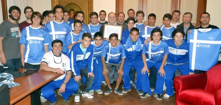 Selección Sub-17 de fútbol director técnico José Toto Fermín Deportes Prof. Carlos Rens director general del ENTUR Alejandro Silva