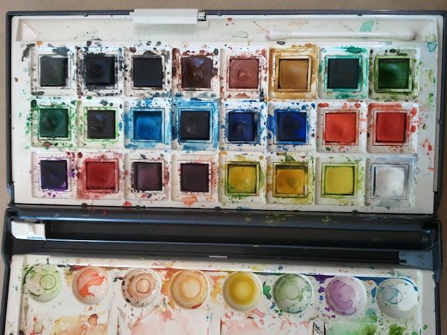 Невские краски акварель