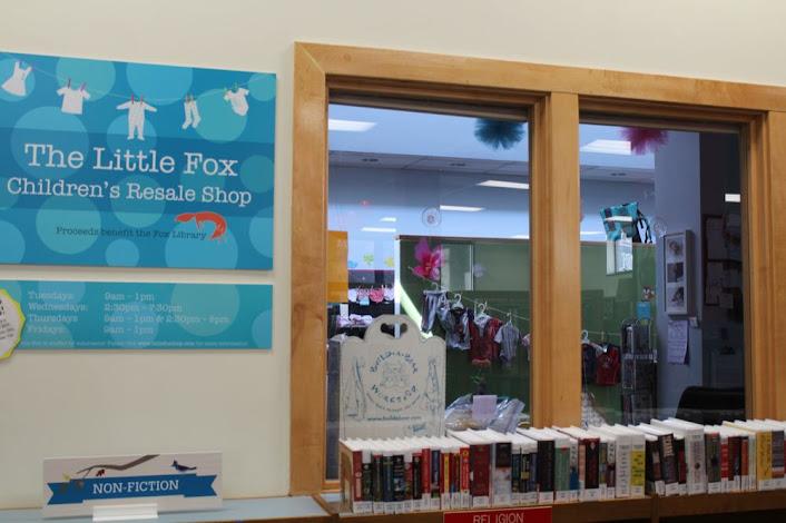 children's resale shop inside the library