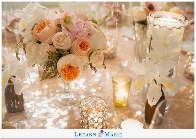 Blush Wedding Flowers At The Omni William Penn Pittsburgh