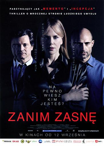 Przód ulotki filmu 'Zanim Zasnę'