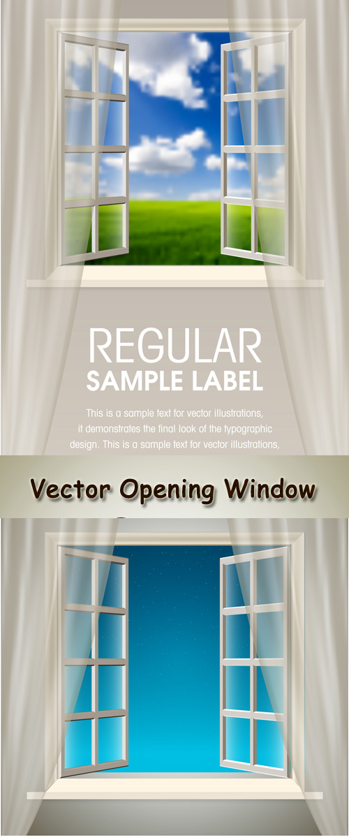 Stock: Vector Opening Window