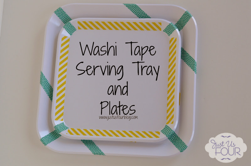 washi tape serving tray