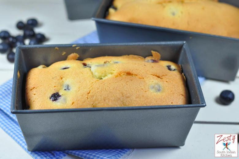 Mini Blueberry Cream Cheese Pound Cake
