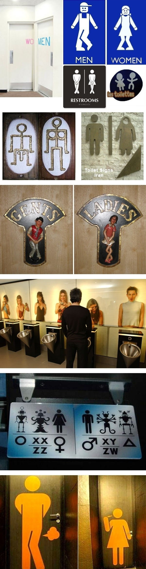 Funny & Creative Toilet Signs