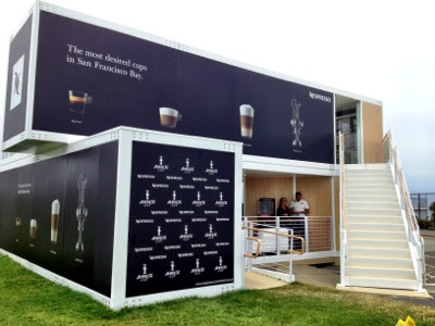 nespresso pop up cafe tastetv. Black Bedroom Furniture Sets. Home Design Ideas