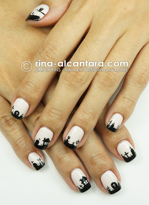 Graveyard Nail Art Design