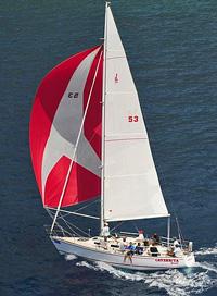 J/36 offshore cruiser racer sailboat- sailing BVI Spring Regatta