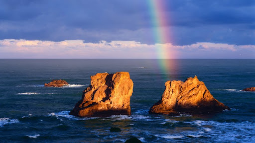 Rainbow Over Seastacks, Bandon, Oregon.jpg