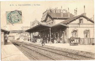 6 - La Gare de la Garenne Colombes - vue sur les quais - carte postale ancienne - cpa
