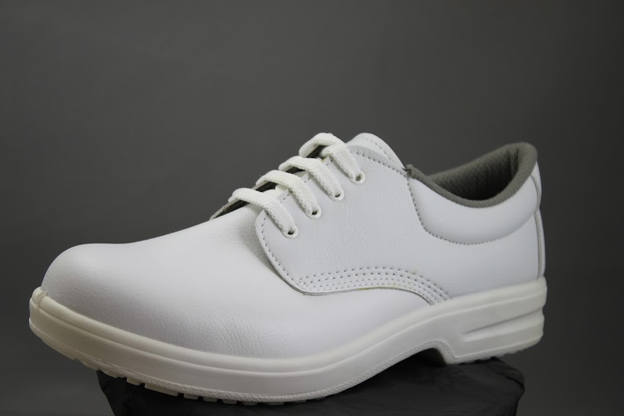 Vegan white safety shoes
