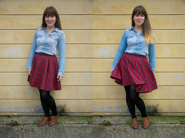 Tartan Circke Skirt