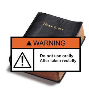 Bible with Warning Label