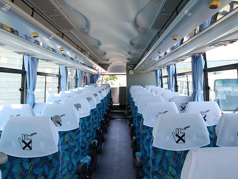 沿岸バス「特急はぼろ号」 ・390 車内