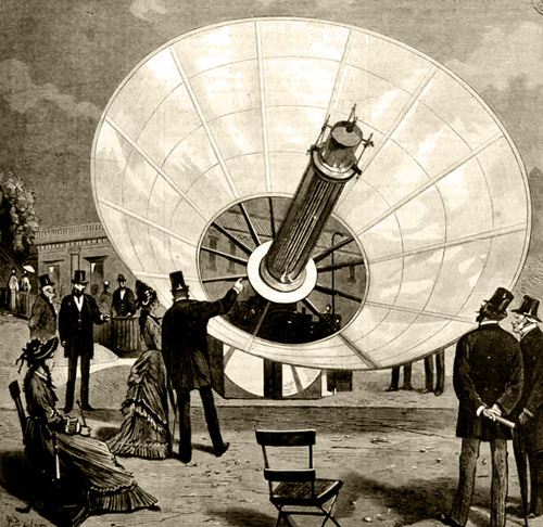 The first solar concentrator