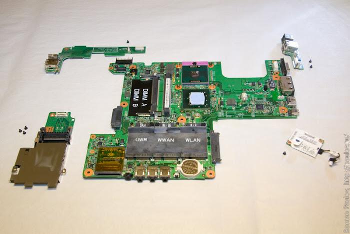 Как разобрать ноутбук Dell Inspiron 1525 58