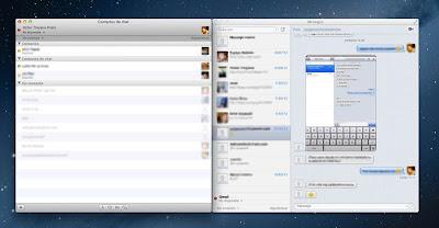 Mostrar los contactos de Mensajes al estilo iChat