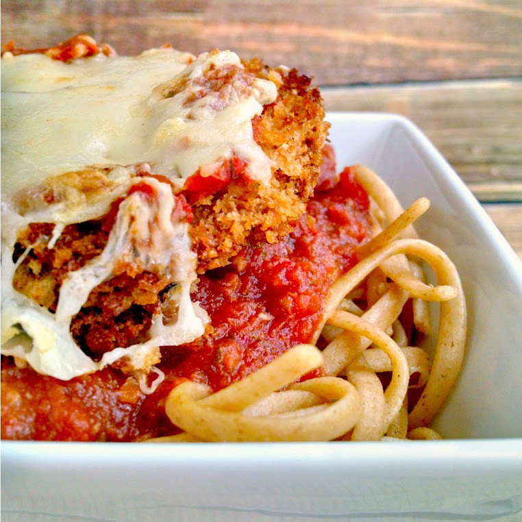 Baked Eggplant Parmesan for Heart Healthy #SundaySupper