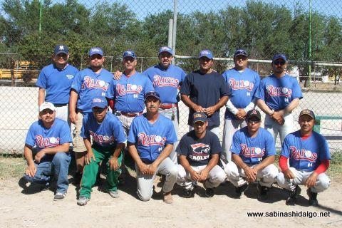 Equipo Rayos del torneo sabatino de softbol