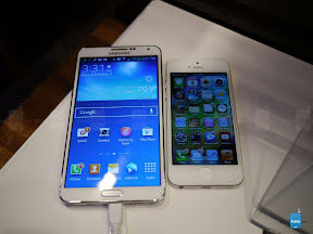 GALAXY Note3とiPhone5