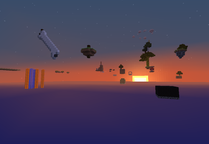 Sky World Map for Minecraft 1.6.2/1.6.1/1.5.2/1.5.1