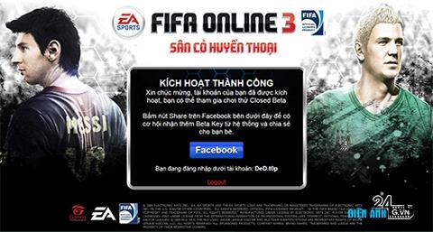 FIFA Online 3 bước vào thử nghiệm Closed Beta - DIENANH24G FIFA Online 3 bước vào thử nghiệm Closed Beta