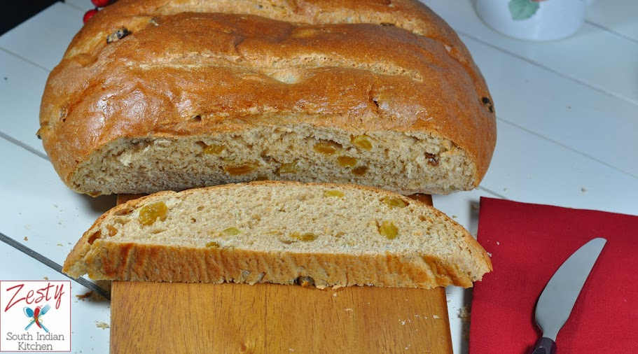 Julekake:Norwegian Christmas Bread - Zesty South Indian Kitchen