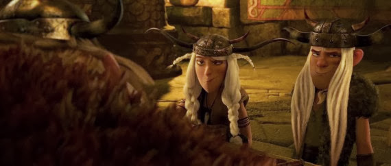 Screen Shot Of Hollywood Movie How to Train Your Dragon (2010) In Hindi English Full Movie Free Download And Watch Online at alldownloads4u.com