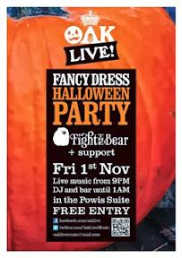 Big free Halloween Party at Oak Live