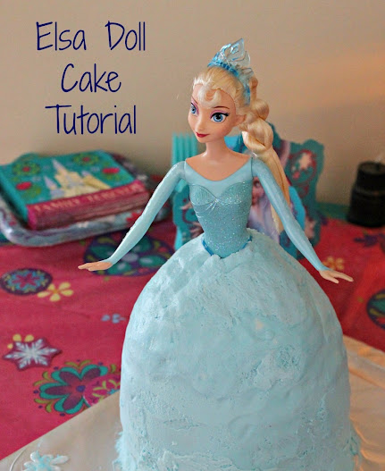 One Bowl Elsa Doll Cake Tutorial for a Frozen Birthday Party