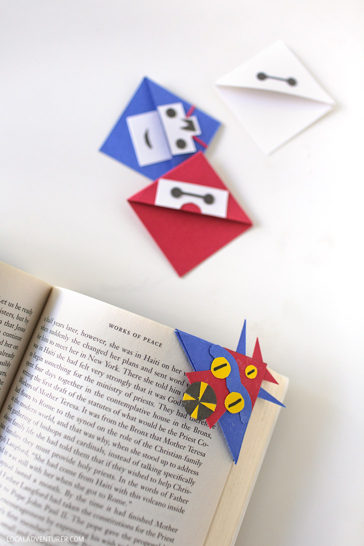 How to Make a Corner Bookmark with Big Hero Six Characters.