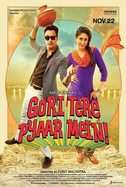 Poster Of Hindi Movie Gori Tere Pyaar Mein (2013) Free Download Full New Hindi Movie Watch Online At Alldownloads4u.Com