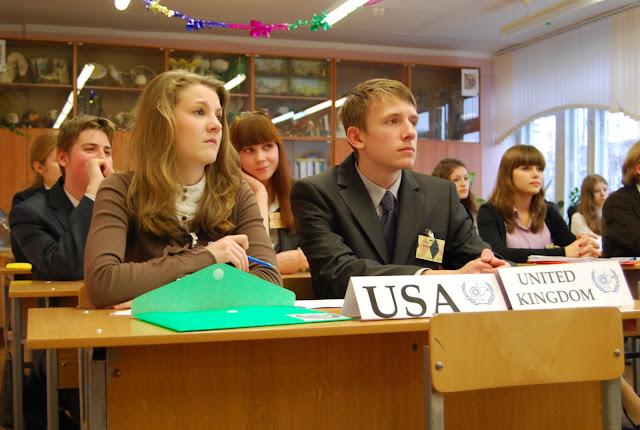 Участники Белорусской модели ООН